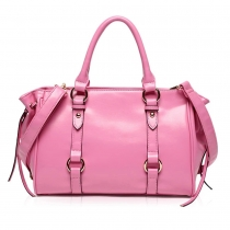 Sweet Solid Color Handbag Shoulder Messenger Bag