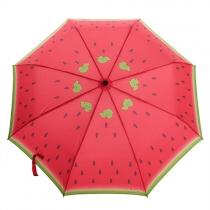 Paraguas Plegable de Estampado de Sandía para Lluvia o UV