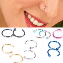 Multi Colors Titanium Stainless Steel Hypoallergenic Fake Nose Rings