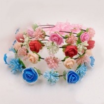 Bohemian Style Flower Crown Garland Headband
