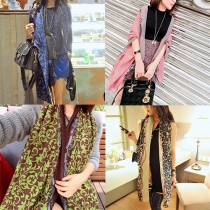 Ethnic Style Floral Print Scarves Shawls