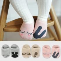 Calcetines Antideslizantes Lindos Estampados  de Dibujos Animados Para Niños