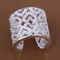Fashion Rhinestone Hollow Out Ring