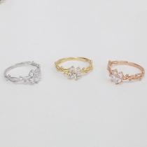 Elegant Dendrite Winding Butterfly Ring