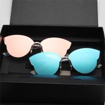 Fashion Retro Round Frame Sunscreen Anti-UV Sunglasses