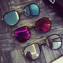 Gafas de Sol Unisexo con Montura de Metal y Lentes Polarizadas