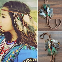 Bohemian Fashion Feather Tassel Headwear