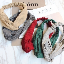 Fashion Solid Color Elastic Knitted Headband