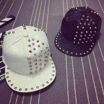 Punk Style Rivets PU Leather Hip-Hat Baseball Cap