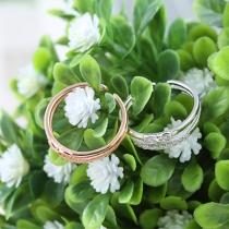 Fashion Rhinestone Bowknot Alloy Ring