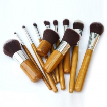 Professional Cosmetic Tools 11 PCS Makeup Brush Set with Cloth Pouch