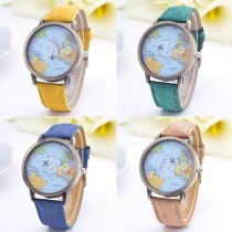 Fashion Denim Watch Band Round Dial Quartz Watches