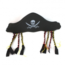 Unique Style Pirate Hat with Braids Halloween Supplies