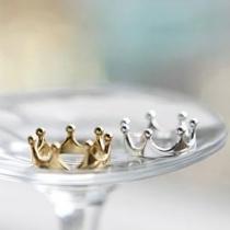 Anillo en Forma de Corona de Tono Dorado/Plateado