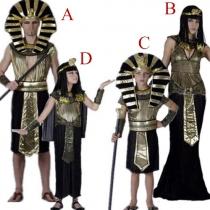 Traje Creativo Para Halloween de Faraón y Cleopatra Para Familia