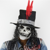 Creative Style Halloween Long Hair Skull Mask