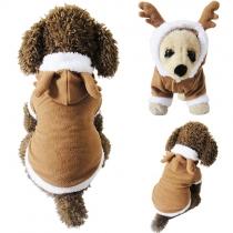 Chaqueta Linda con Capucha de Botones Para Perros