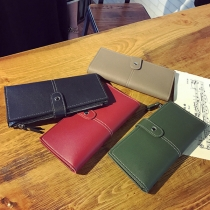 "Billetera Larga Moderna para Mujer Estilo ""Retro"" en Color Liso"