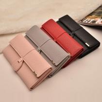 Billetera Larga Simple para Mujer en Color Liso