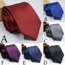 Moderna Corbata a Rayas Para Hombre
