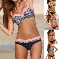 Sexy Bikini de Push-up Estampado con Relleno y Aro + Braga
