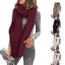 Bufanda de Punto de Color sólido de Moda