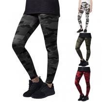 Fashion Camouflage Print High Waist Stretch Leggings