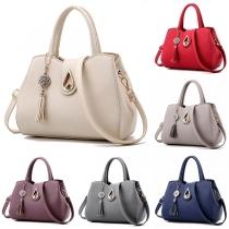 Elegant Solid Color Handbag Shoulder Messenger Bag