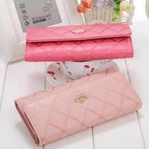 Fashion Solid Color Crown Long-style Wallet