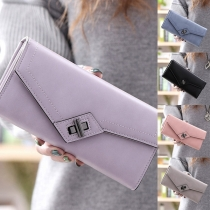 Fashion Solid Color Long-style Wallet