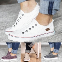 Fashion Flat Heel Round Toe Canvas Shoes