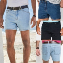 Fashion Middle Waist Man's Denim Shorts