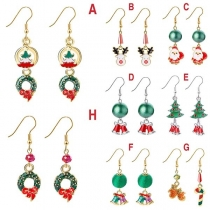 Cute Style Santa Claus/Christmas Tree/Bell Pendant Earrings