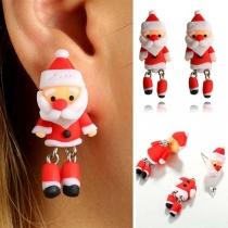 Pendientes en Forma de 3D Santa Claus