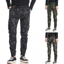 Fashion Camouflage Printed Side-pocket Man's Pants