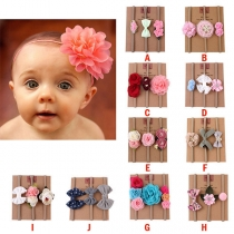 Sweet Style 3D Flower Spliced Hair Band for Babies 3 pcs/Set