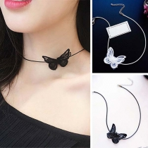 Sweet Style Bow-knot Pendant Choker Necklace