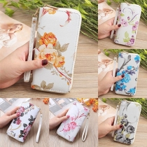Fashion Printed Wallet with Hand Strap