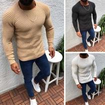 Suéter para Caballero de Escote Redondo Manga Larga