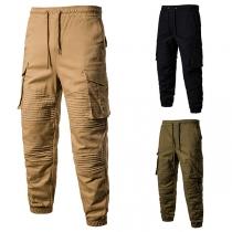 Pantalón Casual para Caballero con Bolsillos de Talle Elástico