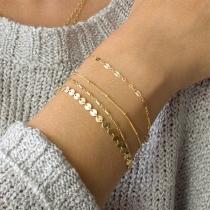 Simple Style Alloy Bracelet Set 4 pcs/Set