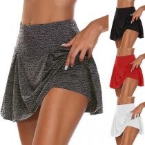 Mini Falda-Pantalón de Talle Alto