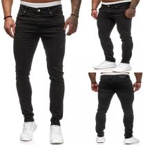 Fashion Middle-waist Man's Jeans