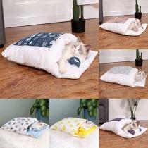 Saco de Dormir Desmontable para las Mascotas con Estampado