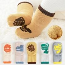 Calcetines 2 pares / juego Antideslizante para Niños con Estampado de Animales