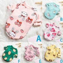 Cute Cartoon Printed Pet Clothes