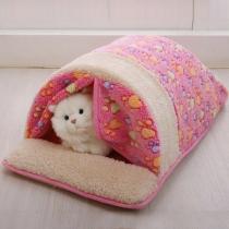 Saco de Dormir de Peluche con Estampado para Mascotas