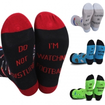 Fashion Contrast Color letters Printed Socks
