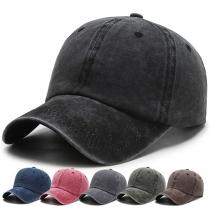 Gorra de Béisbol de Color Sólido Estilo Retro