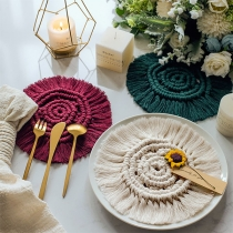 Chic Style Solid Color Hand-woven Tassel Insulation Mat